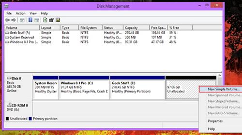 Cara melakukan partisi setelah proses installasi Windows 3