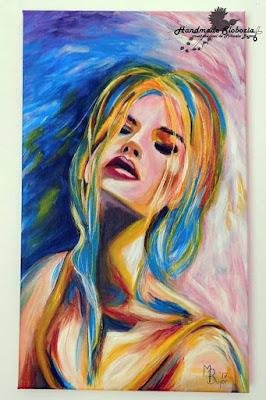 Tablou pictat cu acrilice pe canvas 30/50.