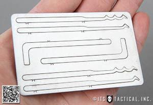 lock pick rake template - lock picks wallet card