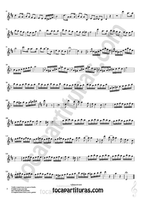2  Violín Partitura de Czardas Sheet Music for Violin Music Scores