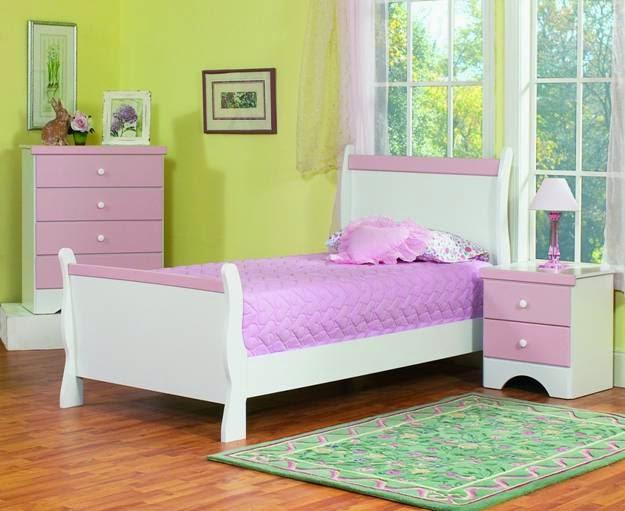 dormitorio niña verde rosa