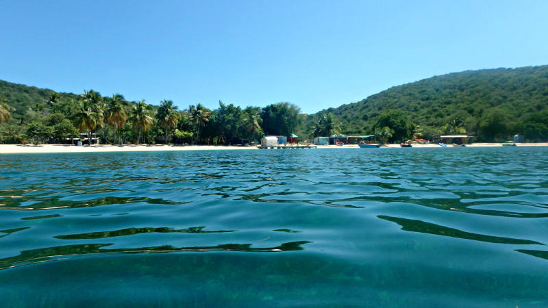 Swimming around Mayreau in The Grenadines