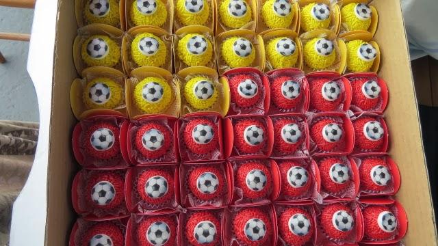 docinho de bola de futebol
