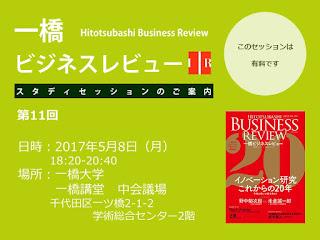 【お知らせ】第11回一橋ビジネスレビュー・スタディセッション