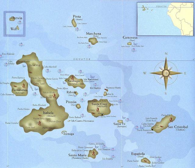 map galapagos island