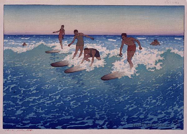 Windsurf Disegno: Modern Printmakers: Charles W Bartlett: Catch A Wave