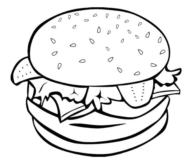 hamburguesas para pintar