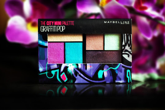 MAYBELLINE THE CITY MINI PALETTE GRAFFITI POP REVIEW, SWATCHES and EOTD