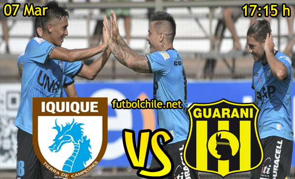 Ver stream hd youtube facebook movil android ios iphone table ipad windows mac linux resultado en vivo, online: Deportes Iquique vs Guaraní