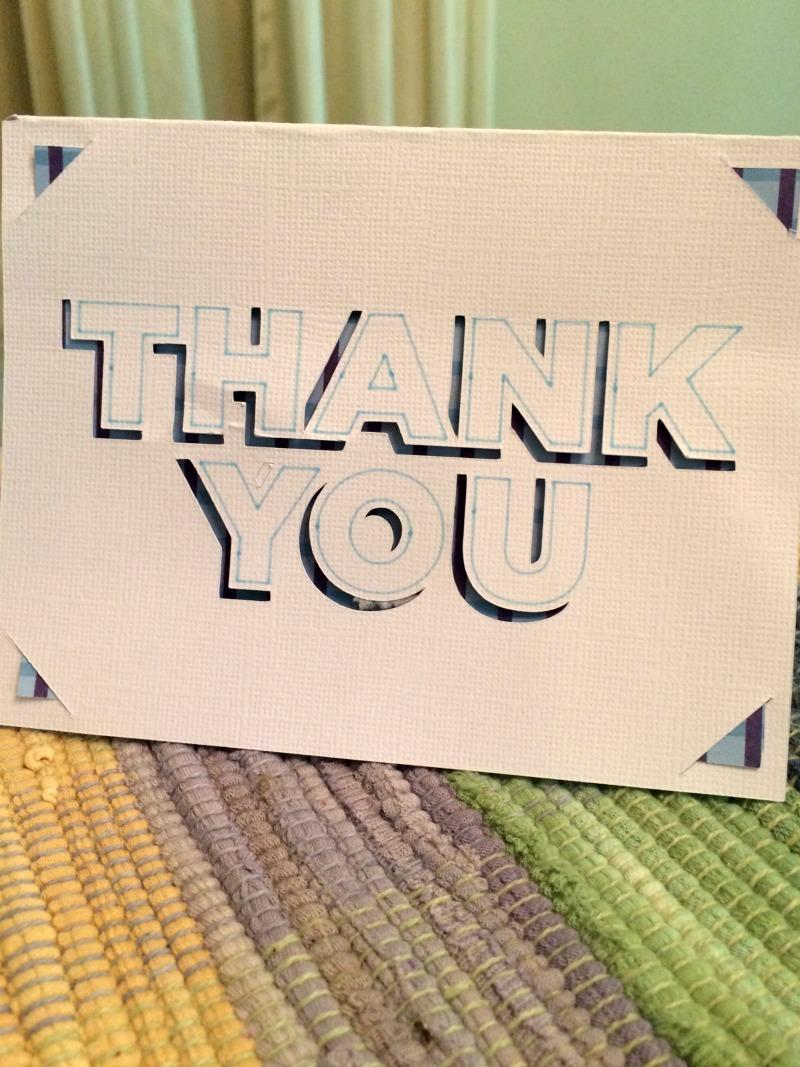 create thank you card