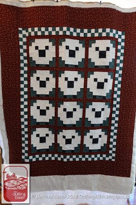 Sheep quilt, full front view