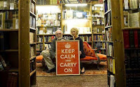 http://www.telegraph.co.uk/news/uknews/4643306/Bookseller-discovers-rare-wartime-Keep-Calm-and-Carry-On-poster.html
