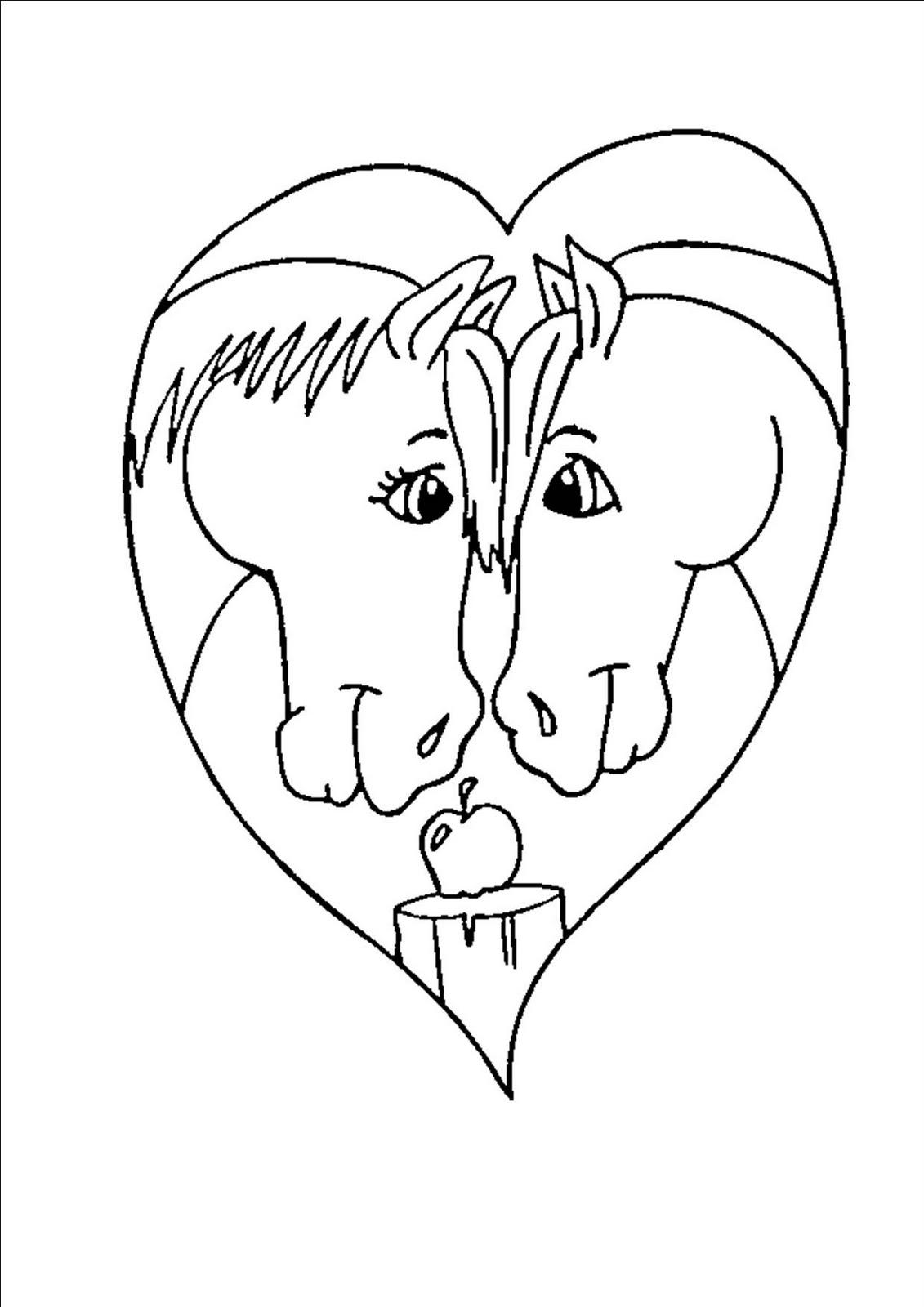 Gonfiabiliserena disegni gratis da colorare per san valentino for Immagini di cavalli da colorare