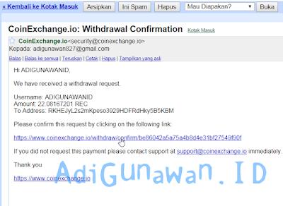 Cara withdraw rec