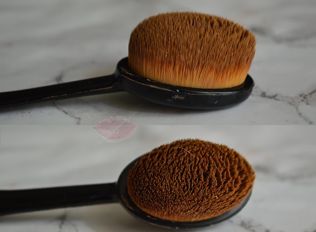 A picture of a Oval foundation brush o pennello ovale