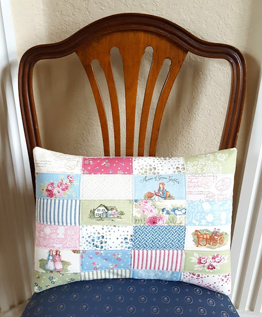 Anne of Green Gables Pillow by Heidi Staples of Fabric Mutt