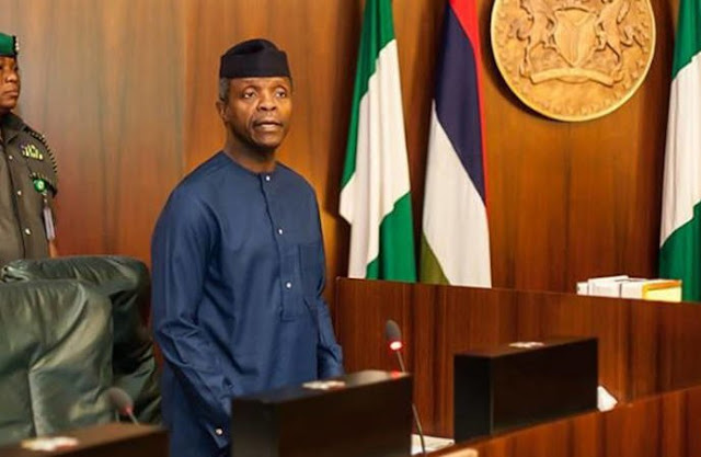 Vice President Yemi Osinbajo is currently in a closed door meeting with the governors of Adamawa, Ebonyi, Plateau, Kaduna, and Zamfara states, and the deputy governors of Benue and Oyo states.