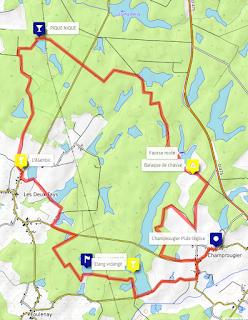 Carte des étangs de la Bresse