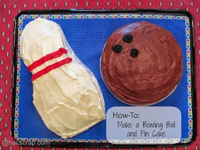Bowling Ball and Pin Cake | My Scraps