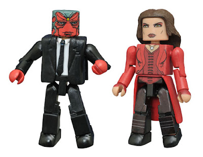 "San Diego Comic-Con 2016 Exclusive Captain America: Civil War Minimates 2 Pack by Diamond Select Toys – ""Suit"" Vision & Scarlet Witch"