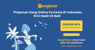 Uangteman.com memberi Pinjaman Hingga Rp4 Juta Di Bali