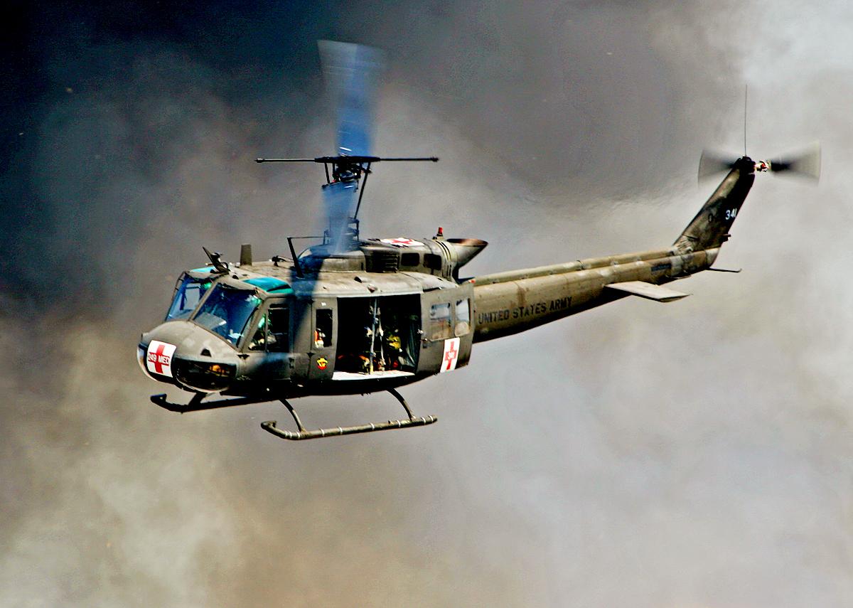UH-1 Iroquois   Vietnam war. Vietnam. Military helicopter