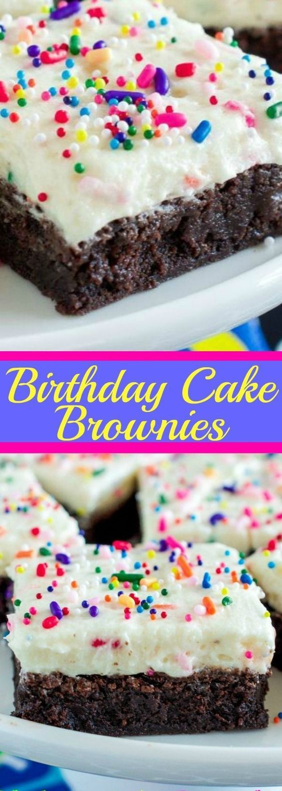 Birthday Cake Brownies