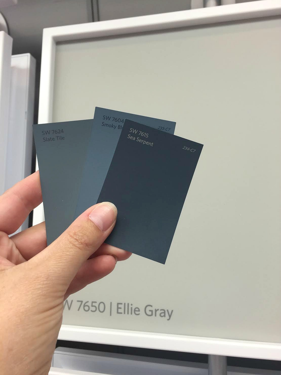 Grayish Blue Paint how to pick out the perfect paint color from thrifty decor chick
