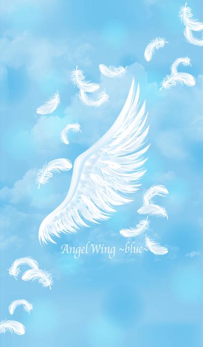 Angel wing blue
