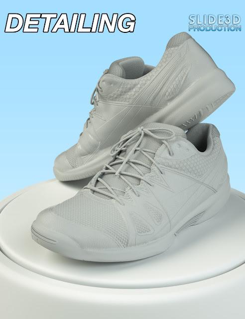 Slide3D Real Sneakers for Genesis 3 Female