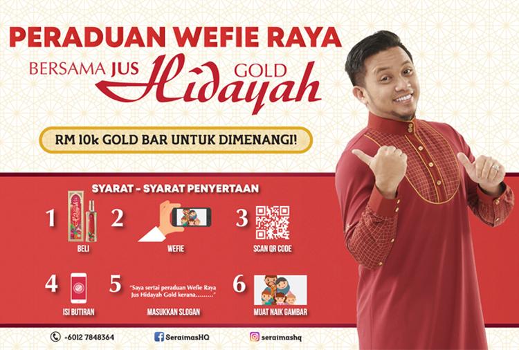 Sertai Peraduan Wefie Raya Jus Hidayah Gold Dan Berpeluang Menangi RM10,000