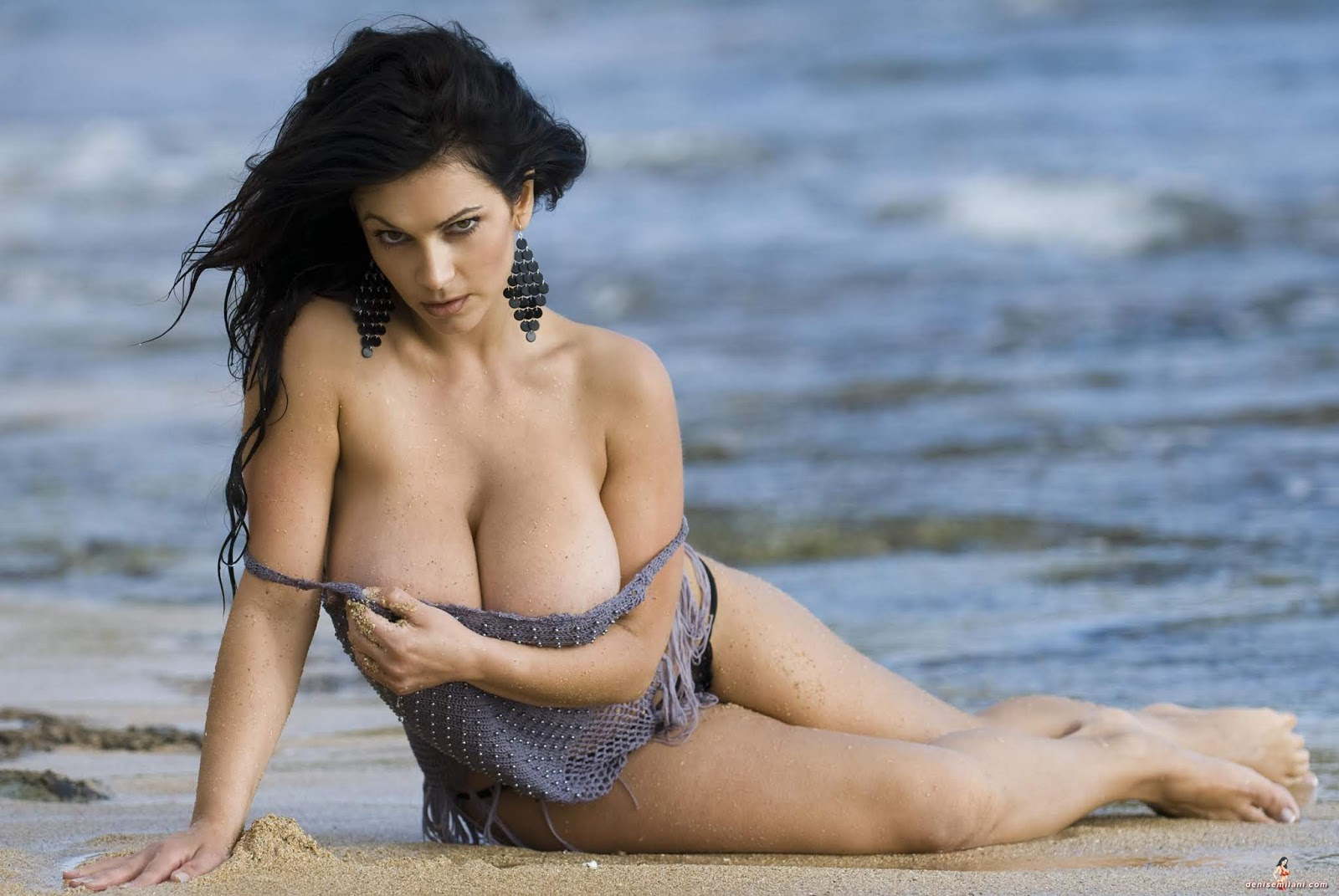 Denise Milani Showing Off Her Perfect Nude Natural Tits