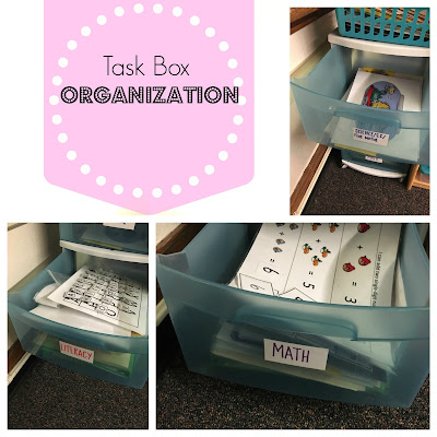 Task box/ independent work time organization for Special Education