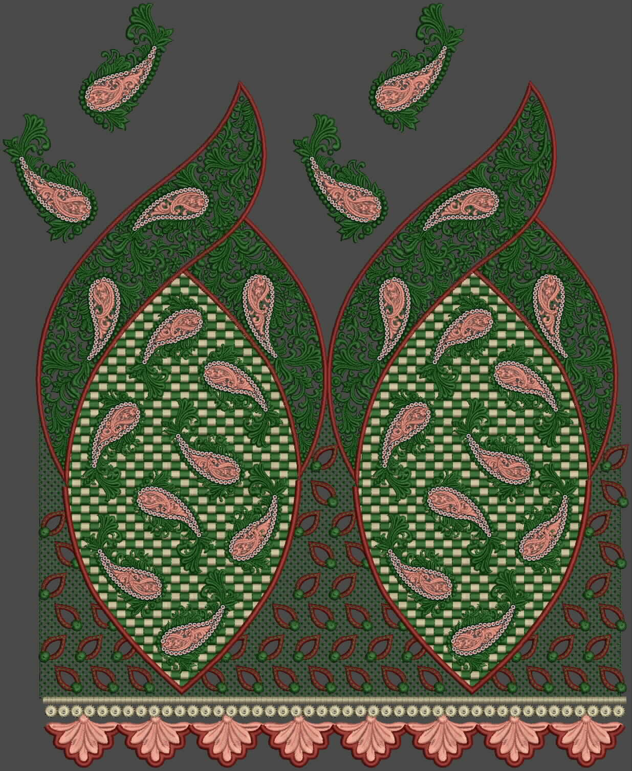 Choice Of Indo-western | Embroidery Design Collection By Fahad Gulmore - Latest Embroidery