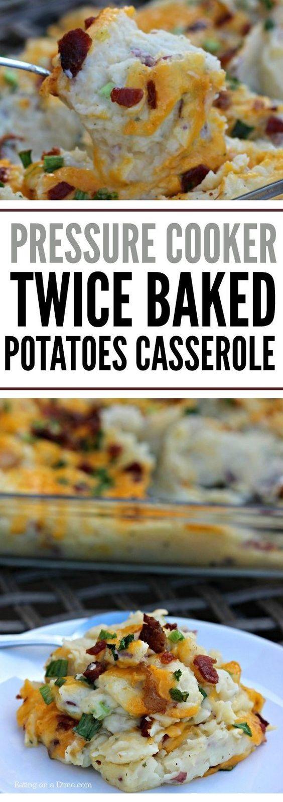 Instant Pot Twice Baked Potatoes Casserole Recipe