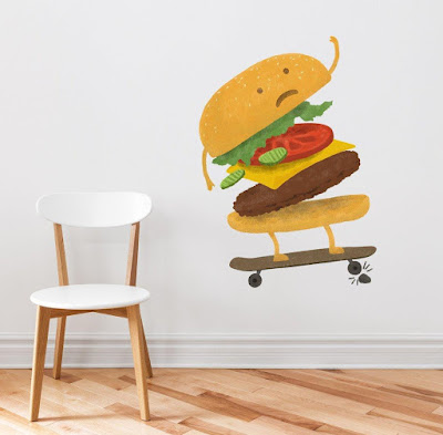 Burger Wall Decal