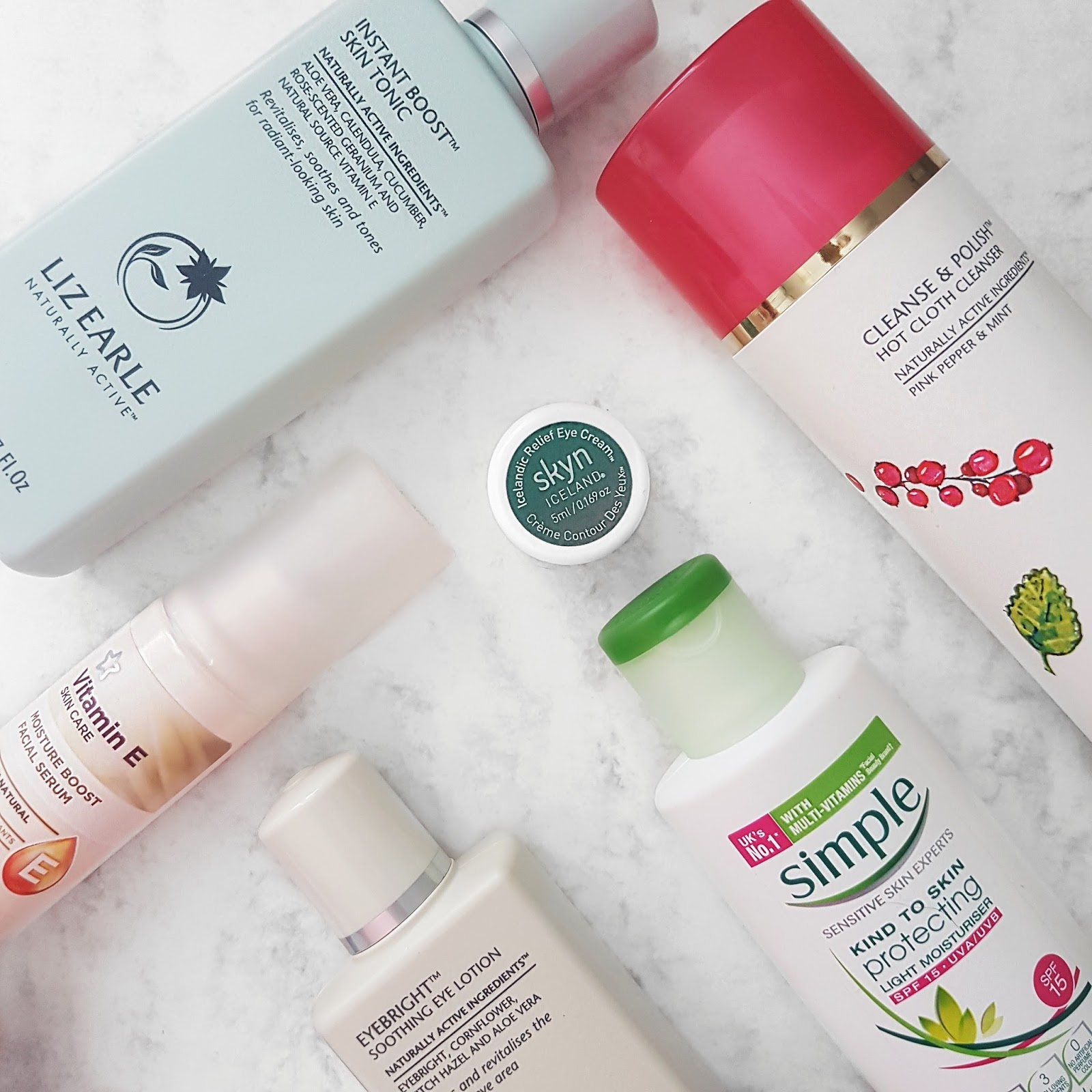 Selection of Skincare Products