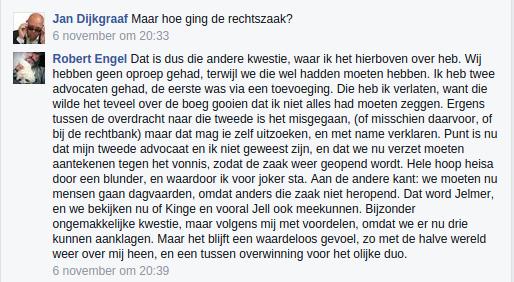 Oliedomme en laffe leugenaar Robert VAN DEN ENGEL (zonder vaste woon- en/of verblijfplaats) aka Robert Engel aka WillemDePoes veroordeeld.