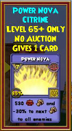 Power Nova - Wizard101 Card-Giving Jewel Guide