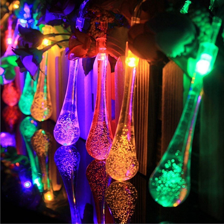 outdoor christmas lights led icicle decoration multi color. Black Bedroom Furniture Sets. Home Design Ideas