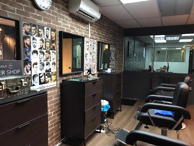 Gaya Rambut Style Terkini di Aniq's Barber Shop, KL
