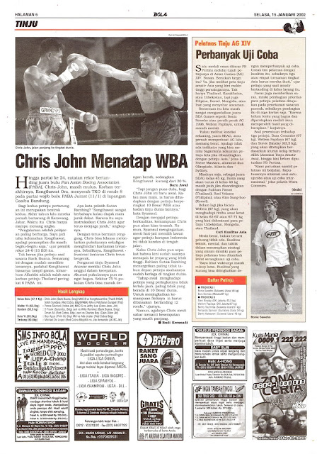 TINJU: CHRIS JOHN MENATAP WBA