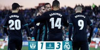 Real Madrid Menang 3-1 di Kandang Leganes - Highlights