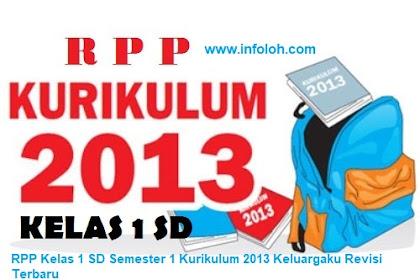RPP Kelas 1 SD Semester 1 Kurikulum 2013 Keluargaku Revisi Terbaru