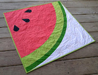 Sliced modern watermelon quilt pattery by Slice of Pi Quilts