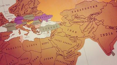 Скретч-карта 16 стран