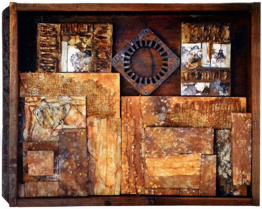 Im genes arte pinturas obra abstracta con elementos - Cuadros modernos valencia ...