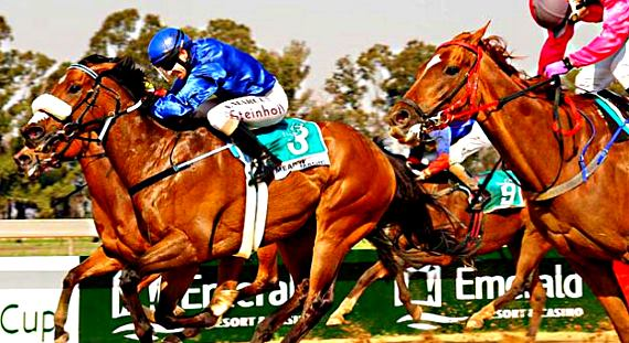 Image of a photo finish at Vaal Race Course