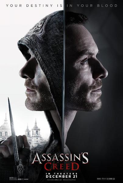Poster Of Assassin's Creed 2016 Hindi 720p BRRip Dual Audio Full Movie Download