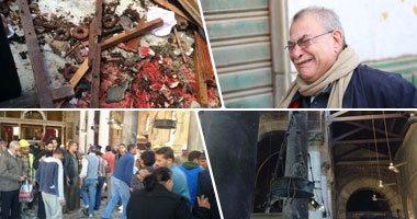 عاجل..كاميرات المراقبة رصدت عددا من المشتبه بهم فى تفجير الكنيسة البطرسية